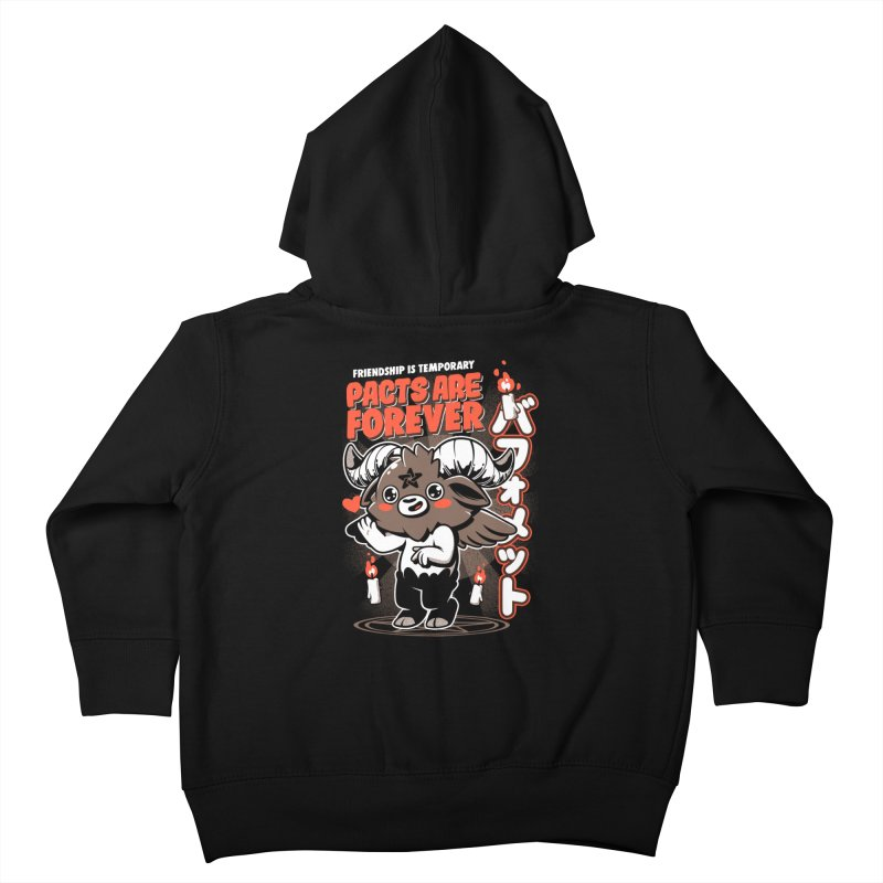 Pacts Are Forever - Black Kids Toddler Zip-Up Hoody by ilustrata