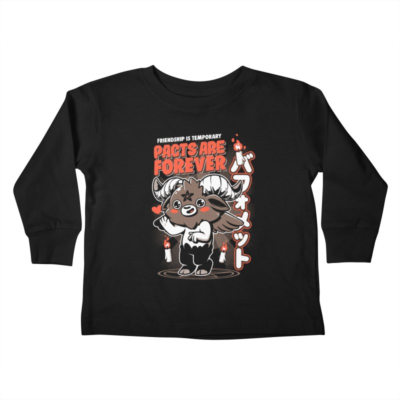 Pacts Are Forever - Black Kids Toddler Longsleeve T-Shirt by ilustrata