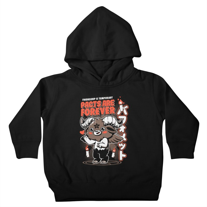 Pacts Are Forever - Black Kids Toddler Pullover Hoody by ilustrata