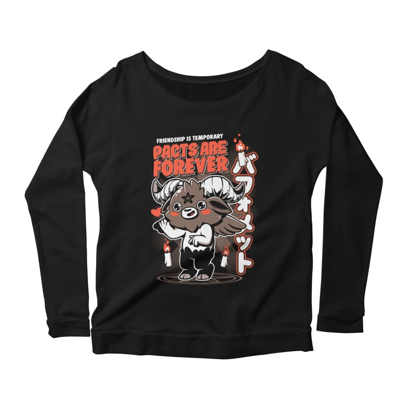 Pacts Are Forever - Black Women's Scoop Neck Longsleeve T-Shirt by ilustrata