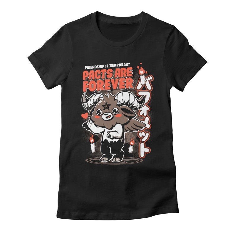 Pacts Are Forever - Black Women's Fitted T-Shirt by ilustrata