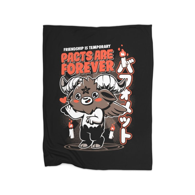 Pacts Are Forever - Black Home Fleece Blanket Blanket by ilustrata