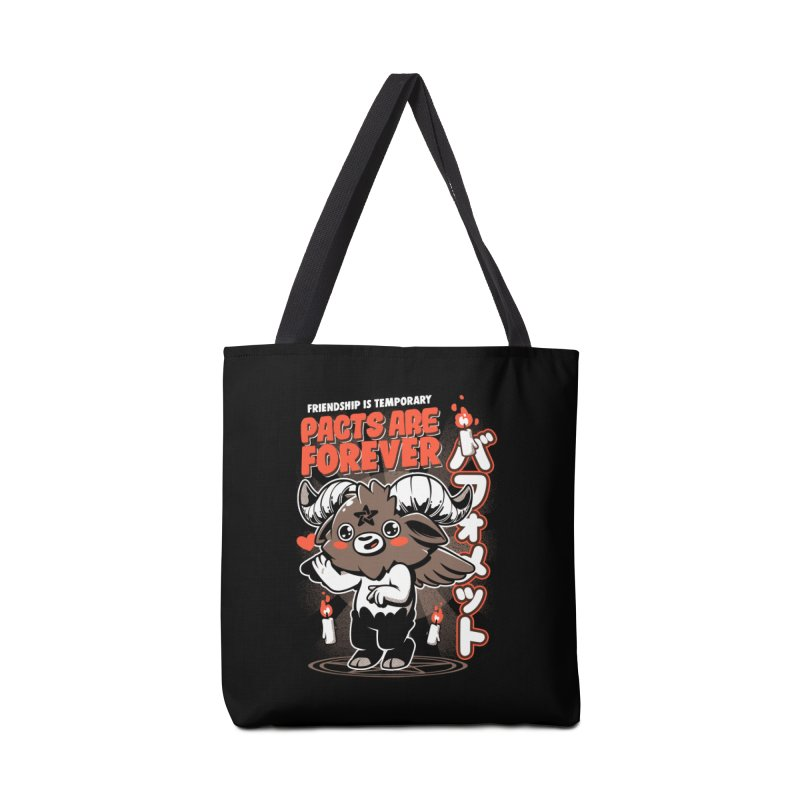 Pacts Are Forever - Black Accessories Tote Bag Bag by ilustrata