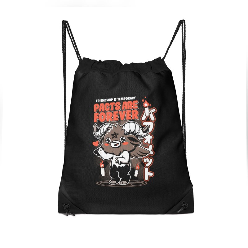 Pacts Are Forever - Black Accessories Drawstring Bag Bag by ilustrata