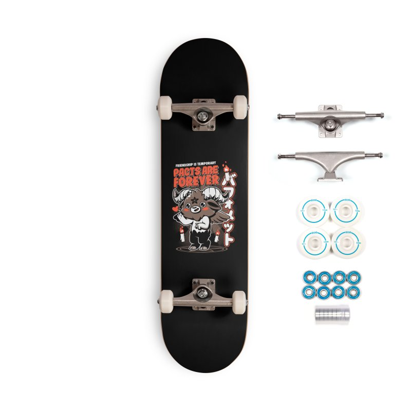 Pacts Are Forever - Black Accessories Complete - Basic Skateboard by ilustrata
