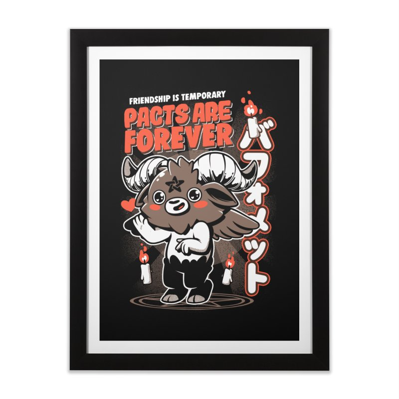 Pacts Are Forever - Black Home Framed Fine Art Print by ilustrata