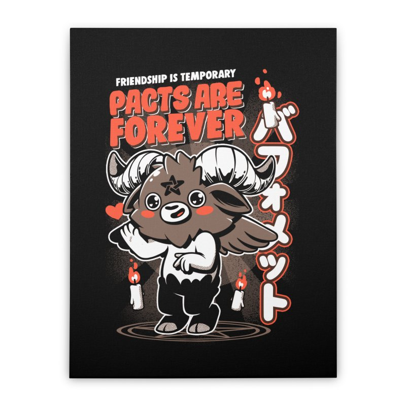 Pacts Are Forever - Black Home Stretched Canvas by ilustrata