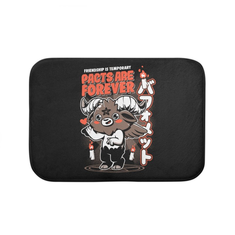Pacts Are Forever - Black Home Bath Mat by ilustrata