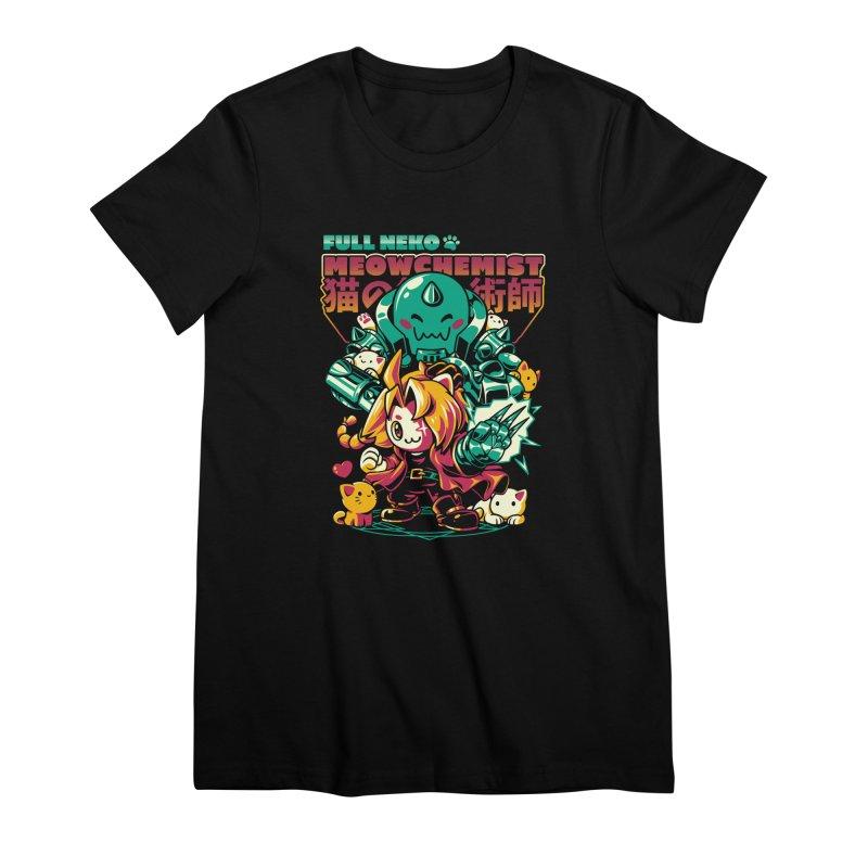 Full Neko Meowchemist Women's Premium T-Shirt by ilustrata