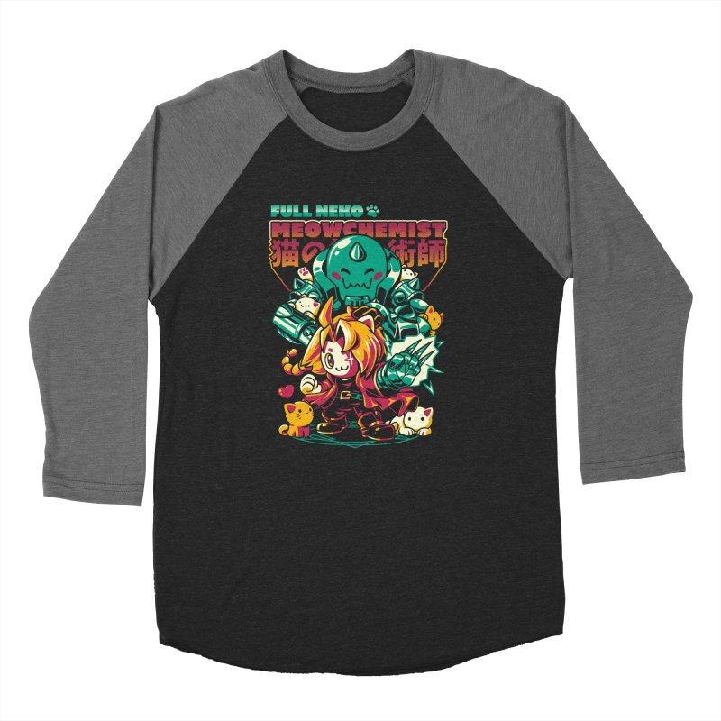 Full Neko Meowchemist Women's Baseball Triblend Longsleeve T-Shirt by ilustrata