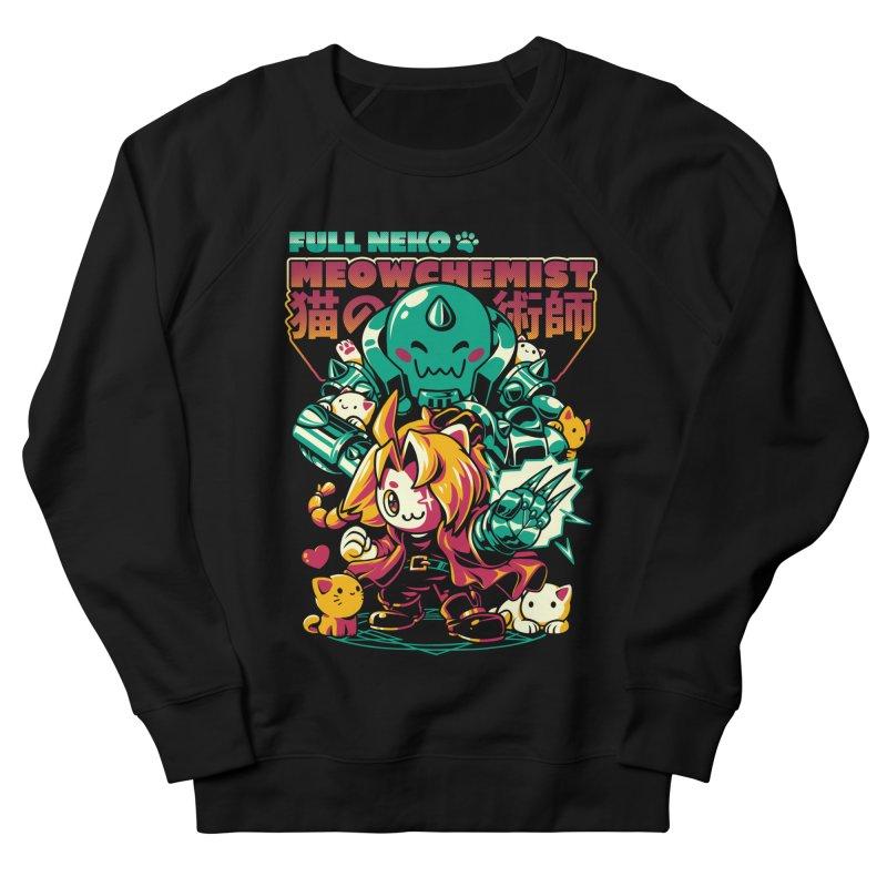 Full Neko Meowchemist Men's French Terry Sweatshirt by ilustrata