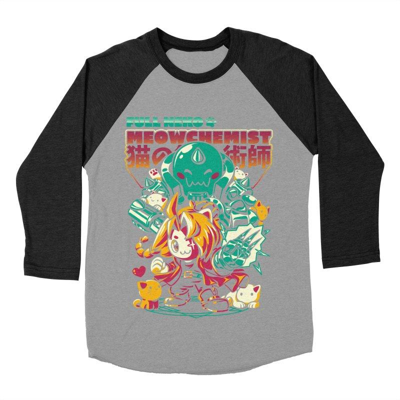 Full Neko Meowchemist Men's Baseball Triblend Longsleeve T-Shirt by ilustrata