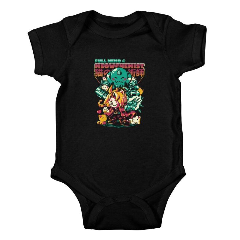Full Neko Meowchemist Kids Baby Bodysuit by ilustrata