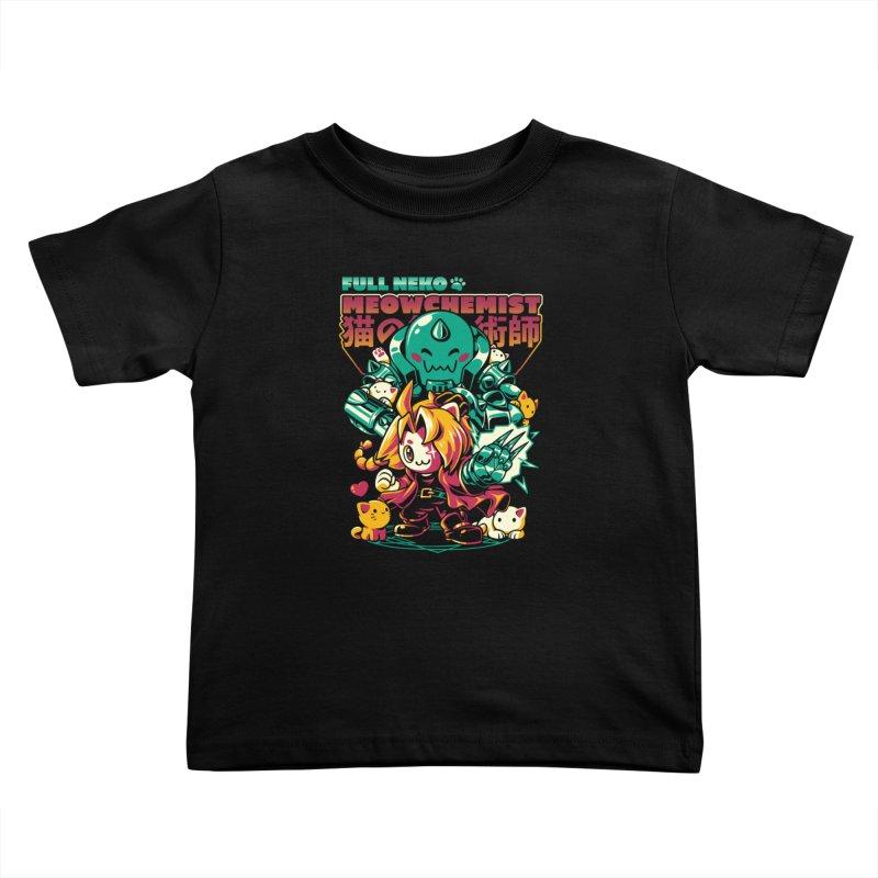 Full Neko Meowchemist Kids Toddler T-Shirt by ilustrata