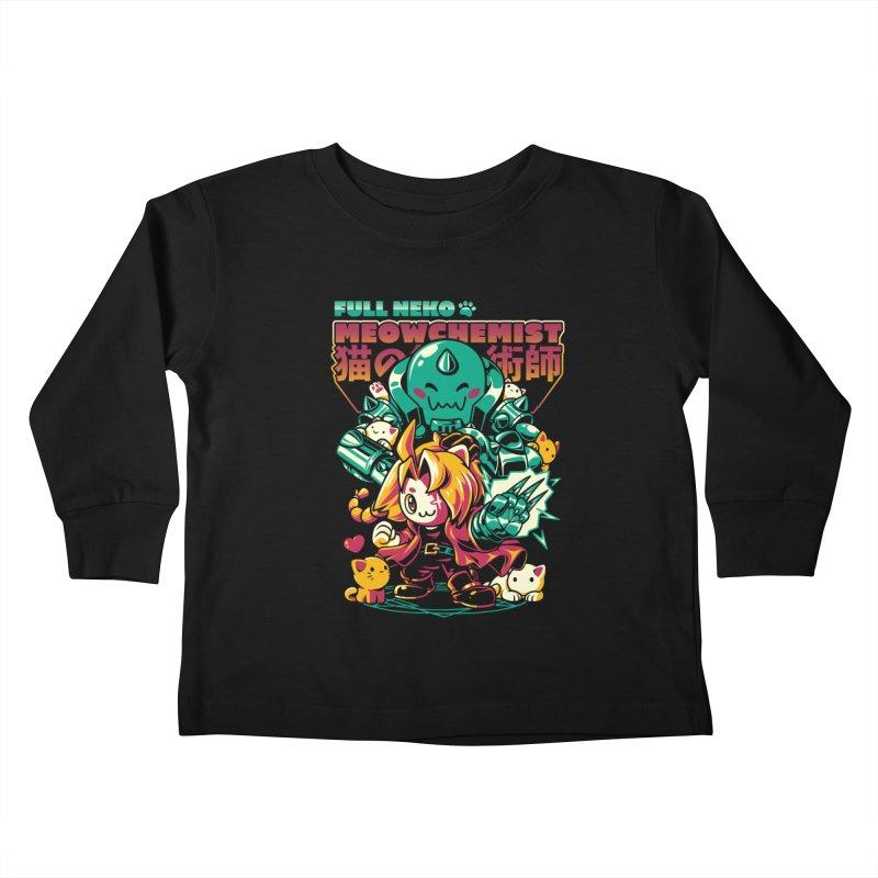 Full Neko Meowchemist Kids Toddler Longsleeve T-Shirt by ilustrata