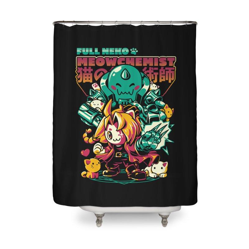 Full Neko Meowchemist Home Shower Curtain by ilustrata