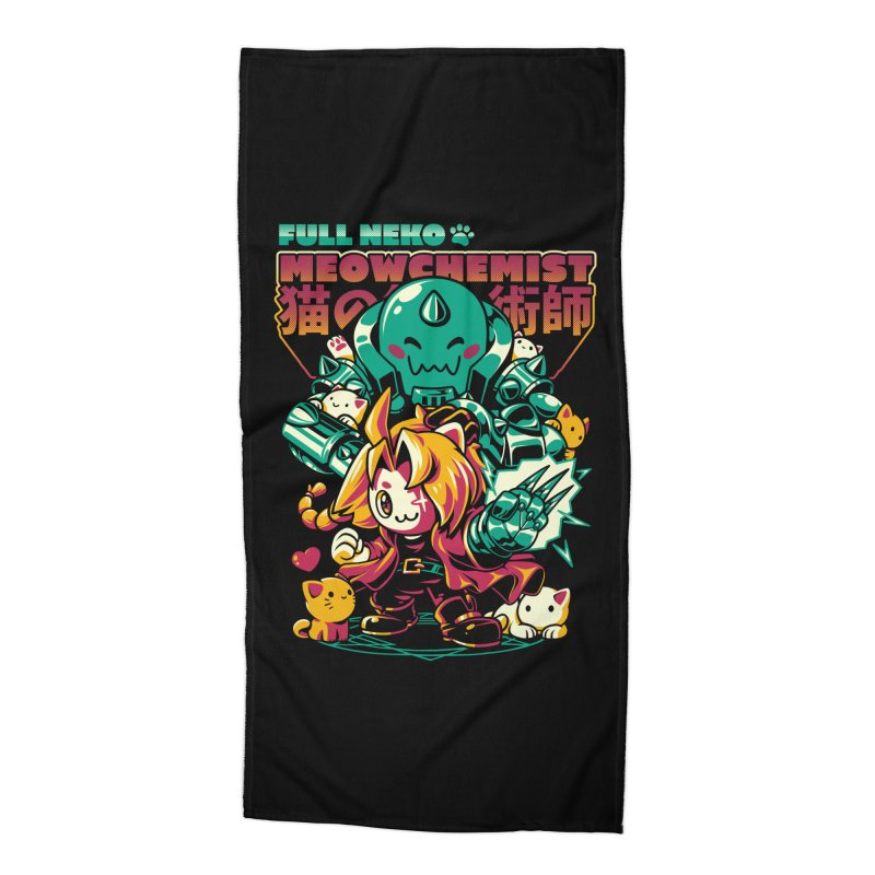 Full Neko Meowchemist Accessories Beach Towel by ilustrata