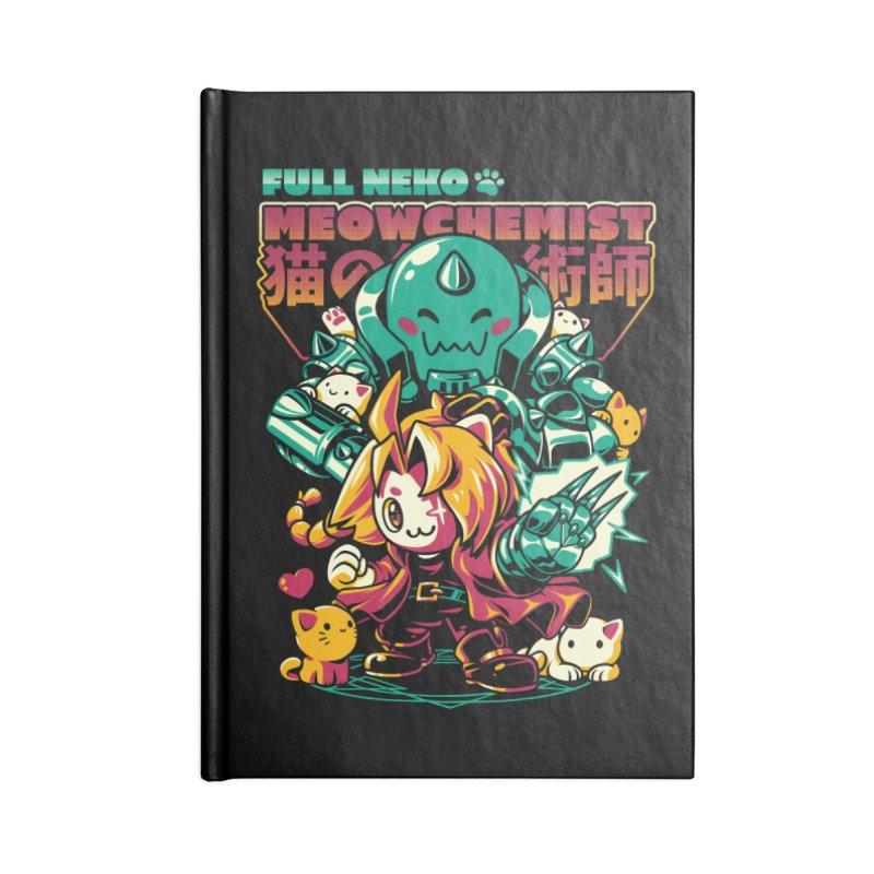 Full Neko Meowchemist Accessories Blank Journal Notebook by ilustrata