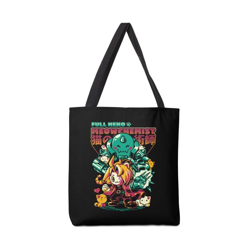 Full Neko Meowchemist Accessories Tote Bag Bag by ilustrata