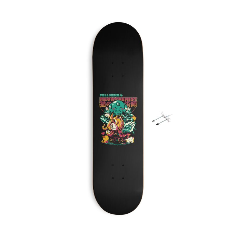 Full Neko Meowchemist Accessories With Hanging Hardware Skateboard by ilustrata
