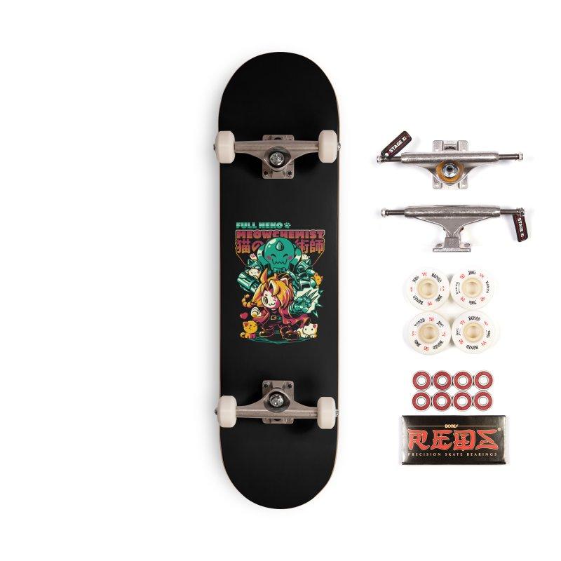 Full Neko Meowchemist Accessories Complete - Pro Skateboard by ilustrata