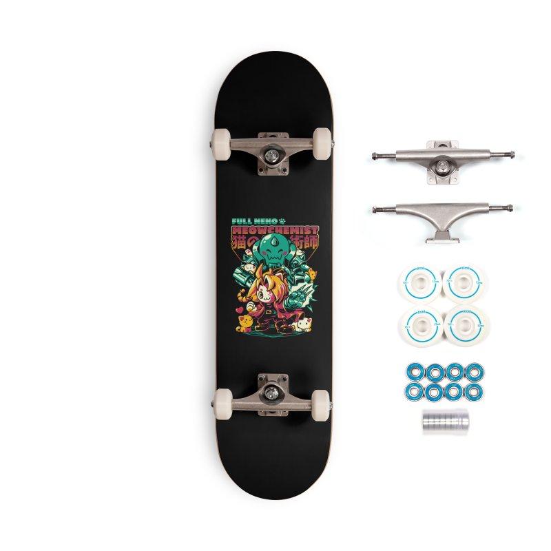 Full Neko Meowchemist Accessories Complete - Basic Skateboard by ilustrata