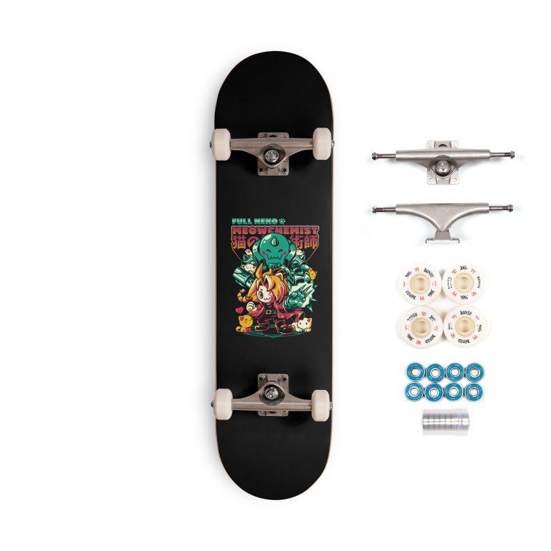 Full Neko Meowchemist Accessories Complete - Premium Skateboard by ilustrata
