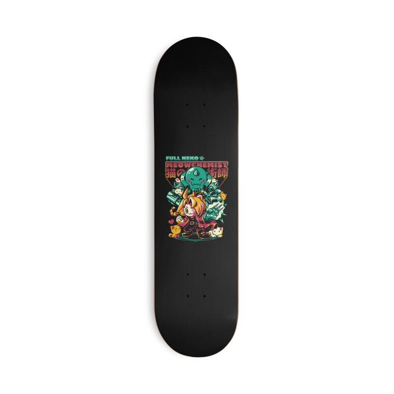 Full Neko Meowchemist Accessories Deck Only Skateboard by ilustrata