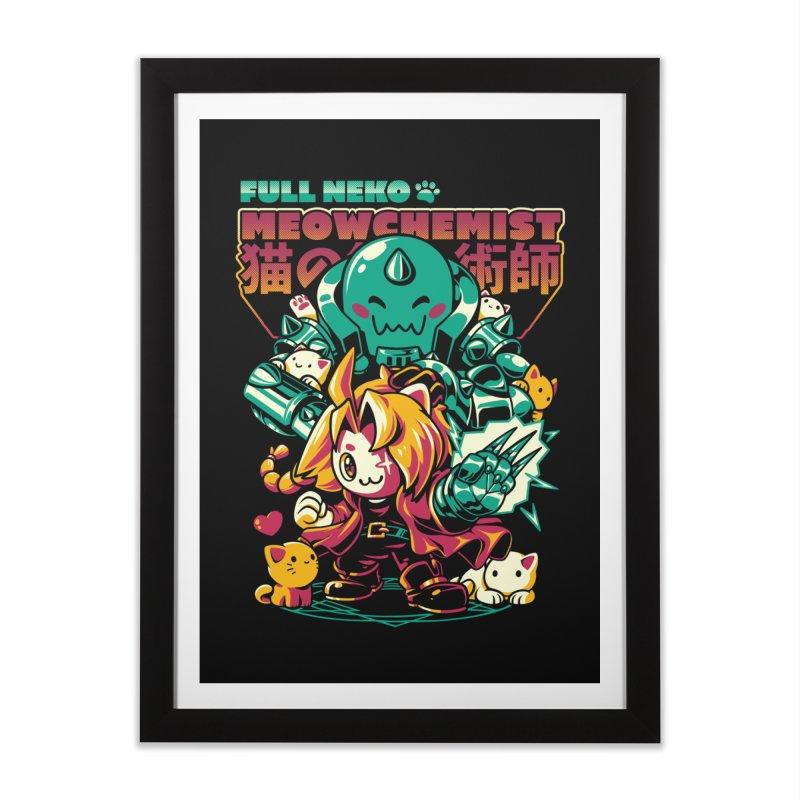 Full Neko Meowchemist Home Framed Fine Art Print by ilustrata