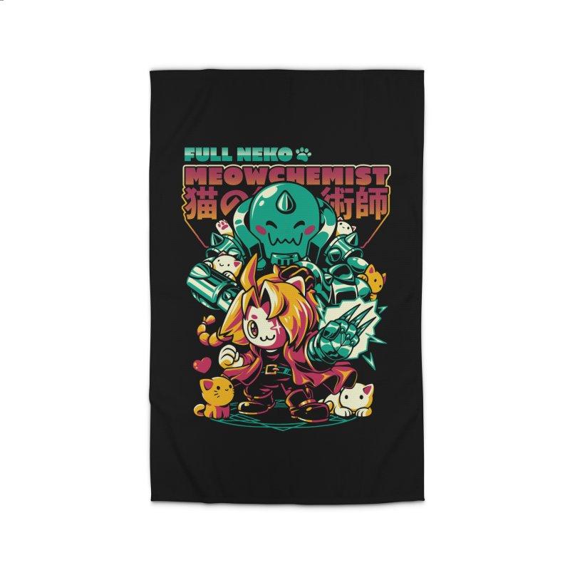 Full Neko Meowchemist Home Rug by ilustrata