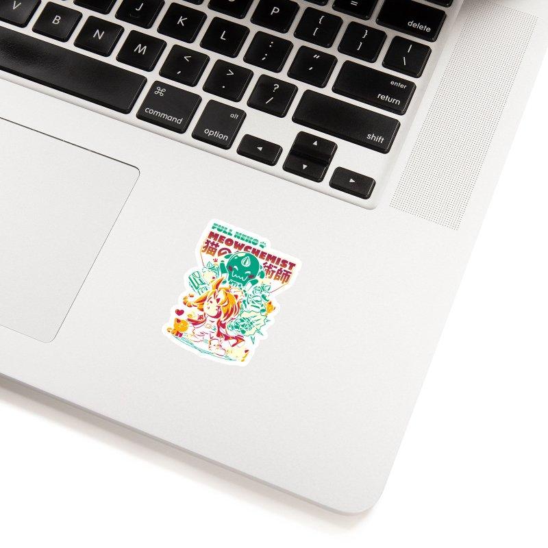 Full Neko Meowchemist Accessories Sticker by ilustrata