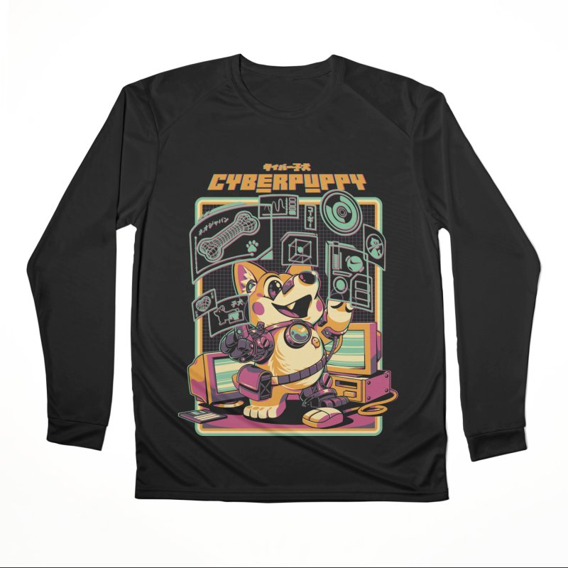 Cyberpuppy Women's Performance Unisex Longsleeve T-Shirt by ilustrata