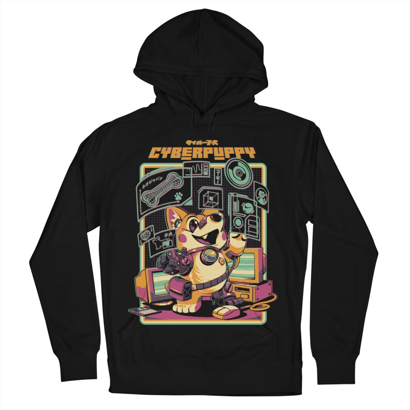 Cyberpuppy Men's French Terry Pullover Hoody by ilustrata