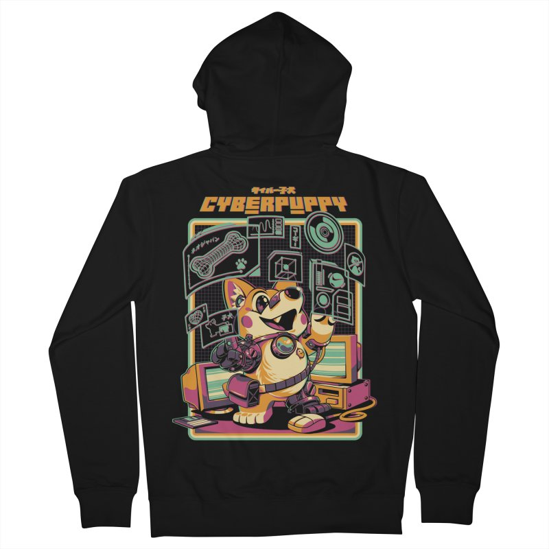 Cyberpuppy Men's French Terry Zip-Up Hoody by ilustrata