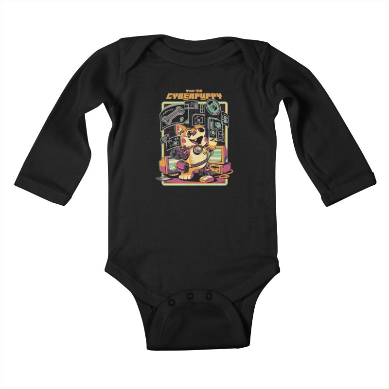 Cyberpuppy Kids Baby Longsleeve Bodysuit by ilustrata