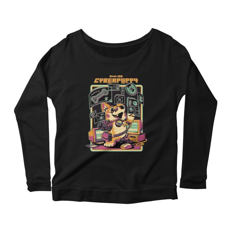 Cyberpuppy Women's Scoop Neck Longsleeve T-Shirt by ilustrata