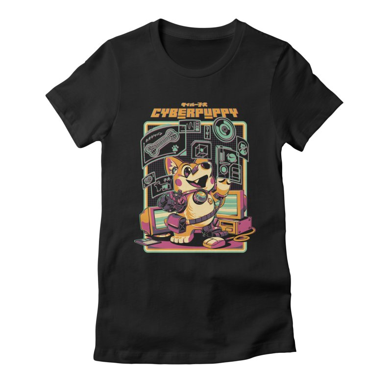 Cyberpuppy Women's Fitted T-Shirt by ilustrata