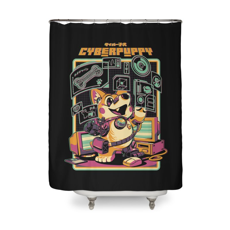 Cyberpuppy Home Shower Curtain by ilustrata