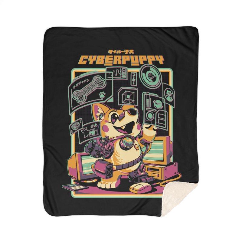 Cyberpuppy Home Sherpa Blanket Blanket by ilustrata