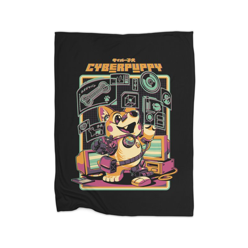 Cyberpuppy Home Fleece Blanket Blanket by ilustrata