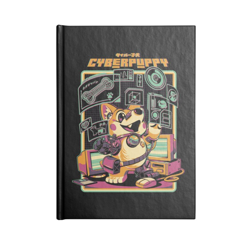 Cyberpuppy Accessories Lined Journal Notebook by ilustrata