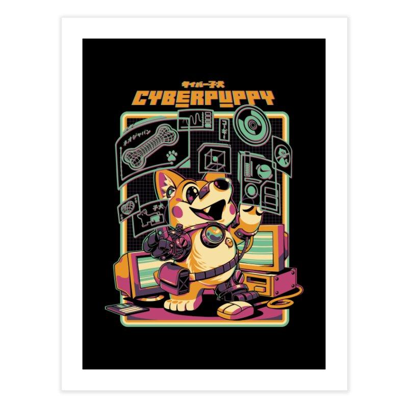 Cyberpuppy Home Fine Art Print by ilustrata