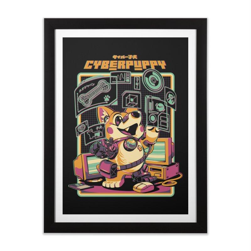 Cyberpuppy Home Framed Fine Art Print by ilustrata