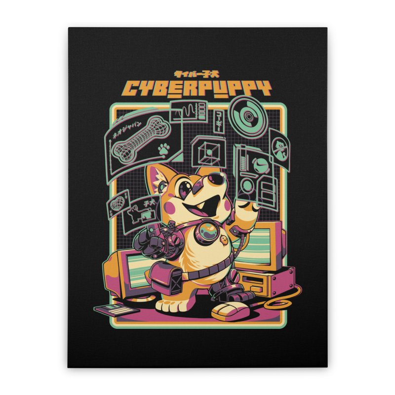 Cyberpuppy Home Stretched Canvas by ilustrata