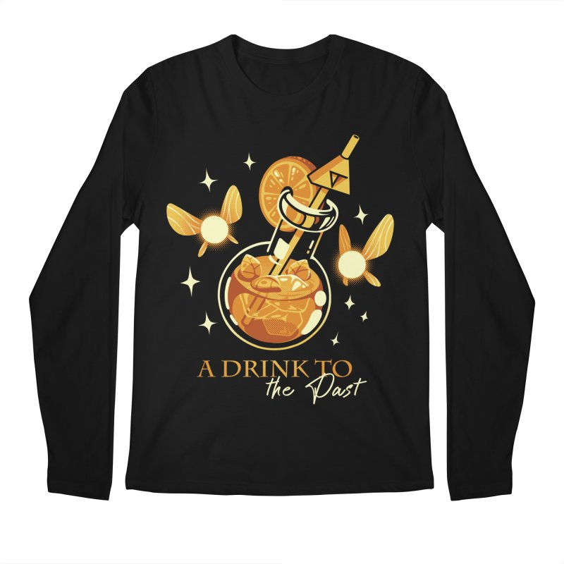 A Drink to the Past Men's Regular Longsleeve T-Shirt by ilustrata