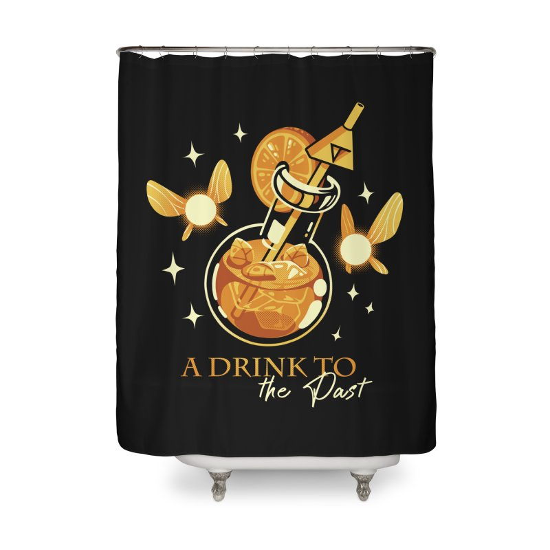 A Drink to the Past Home Shower Curtain by ilustrata