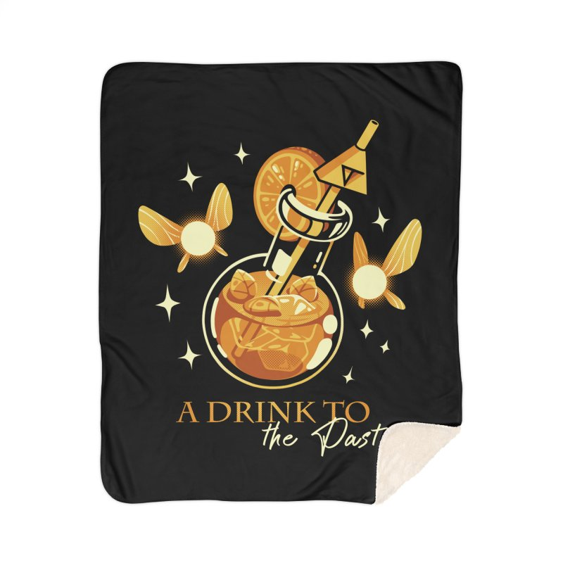 A Drink to the Past Home Sherpa Blanket Blanket by ilustrata