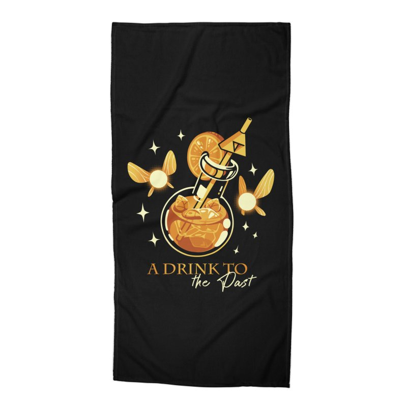 A Drink to the Past Accessories Beach Towel by ilustrata