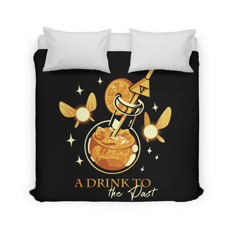 A Drink to the Past Home Duvet by ilustrata