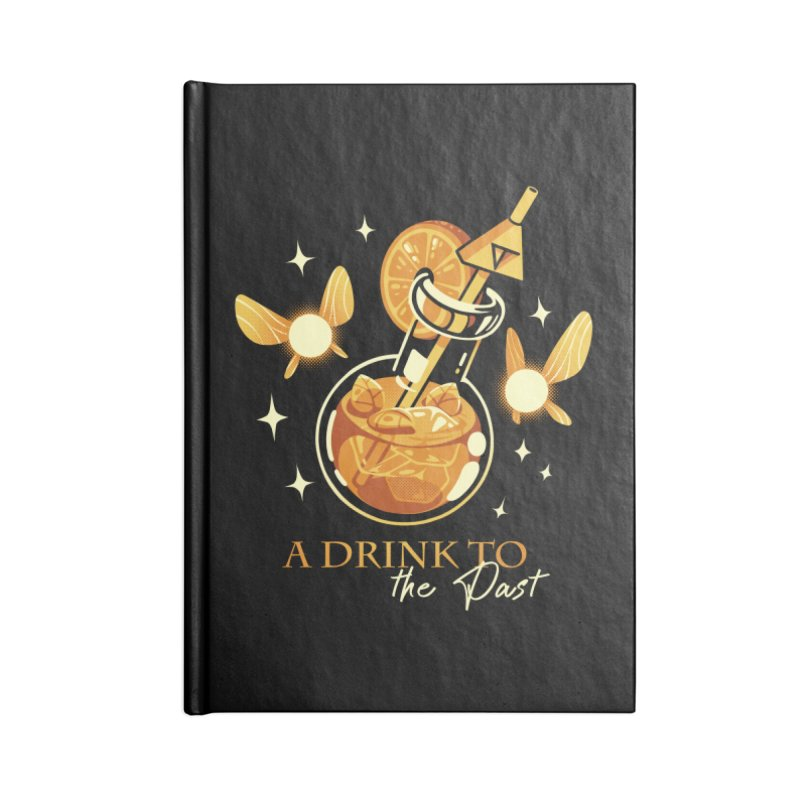 A Drink to the Past Accessories Lined Journal Notebook by ilustrata